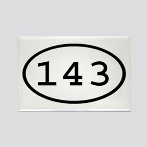 143 Oval Rectangle Magnet