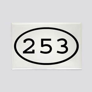 253 Oval Rectangle Magnet