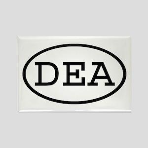 DEA Oval Rectangle Magnet
