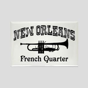 New Orleans French Quarter Rectangle Magnet
