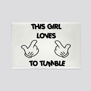 This Girls Loves to Tumble Rectangle Magnet