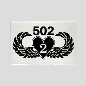 2-502 Black Heart Rectangle Magnet