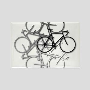 Bicycle circle Rectangle Magnet