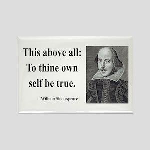 Shakespeare 5 Rectangle Magnet