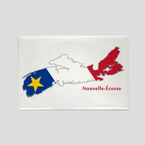 Acadian Flag Nova Scotia Rectangle Magnet