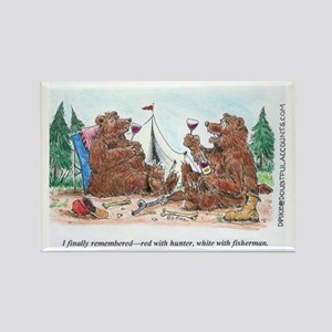 Toasting Bears Rectangle Magnet