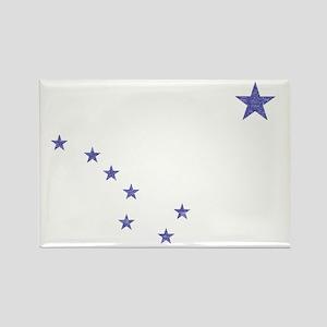 Faded Alaska State Flag Rectangle Magnet