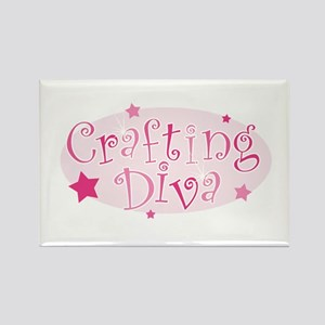 """Crafting Diva"" [pink] Rectangle Magnet"