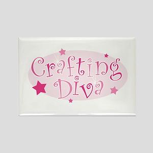 """Crafting Diva"" [pink] Rectangle Magnet"