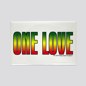 One Love Rectangle Magnet