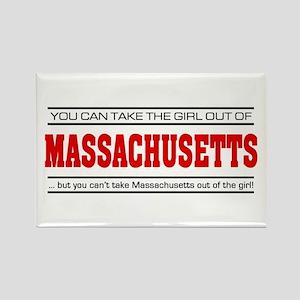 'Girl From Massachusetts' Rectangle Magnet