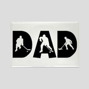 Hockey Dad Rectangle Magnet