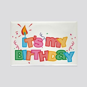 It's My Birthday Letters Rectangle Magnet