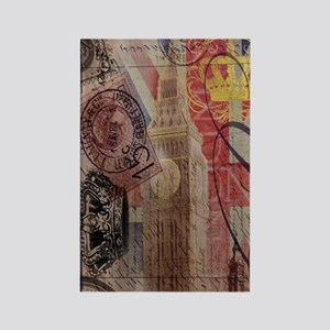 vintage British Flag London UK fa Rectangle Magnet