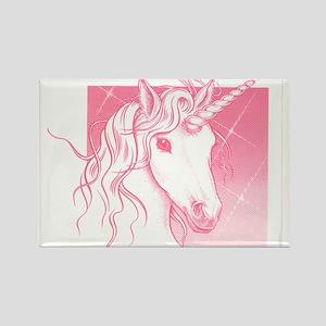 1 Pink Unicorn Rectangle Magnet