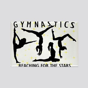 Gymnastics Reaching For The Stars Rectangle Magnet
