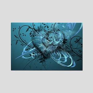 Blue Desire-Forever Love Rectangle Magnet