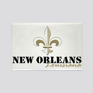 New Orleans Louisiana gold Rectangle Magnet