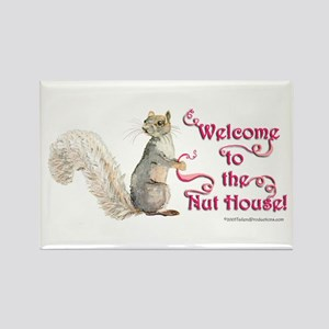 Squirrel Nut House Rectangle Magnet