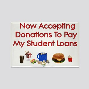 Student Loan Donations Rectangle Magnet