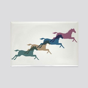 4 Horses Rectangle Magnet
