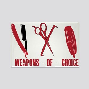 Barber Red Tools of the Trade Dk  Rectangle Magnet