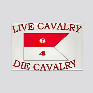 6th Squadron 4th Cavalry cap 4 Rectangle Magnet
