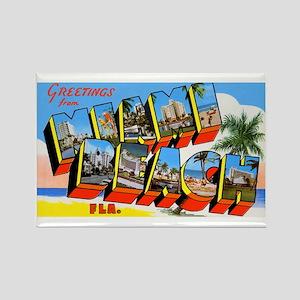 Miami Beach Florida Greetings Rectangle Magnet
