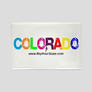 Colorful Colorado Rectangle Magnet