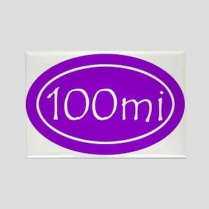 Purple 100 mi Oval Rectangle Magnet