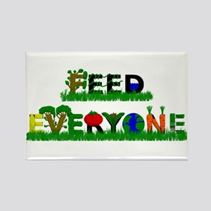 Feed Everyone Rectangle Magnet