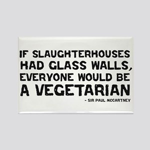 if slaughterhouses... Rectangle Magnet