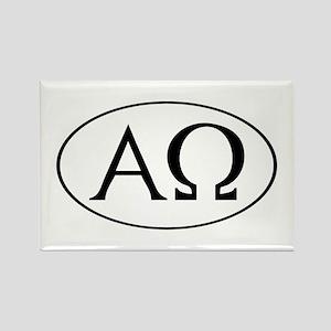 Alpha and Omega Rectangle Magnet