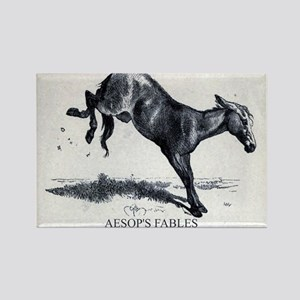 Harrison Weir - The Mule - Aesop - 1867 Magnets