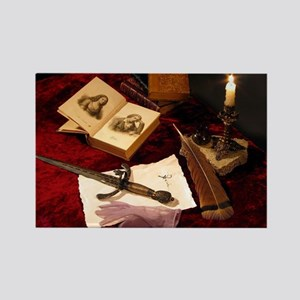 Medieval Still Life Rectangle Magnet
