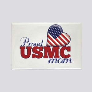 Proud USMC Mom - Rectangle Magnet