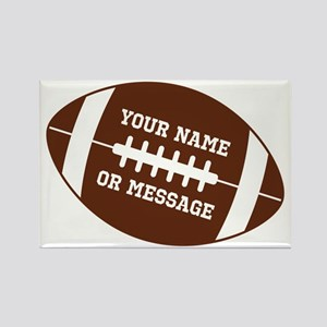 YOUR NAME Football Magnets