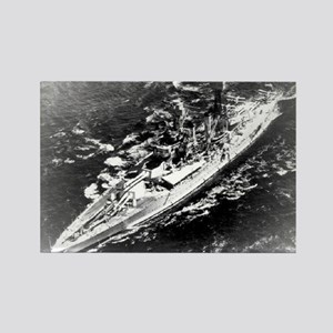 USS West Virginia Ship's Image Rectangle Magnet