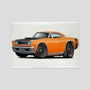 1969 Super Bee A12 Orange Rectangle Magnet