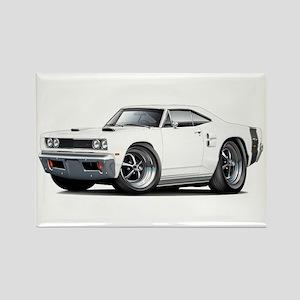 1969 Coronet White Car Rectangle Magnet
