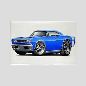 1969 Super Bee Blue Car Rectangle Magnet