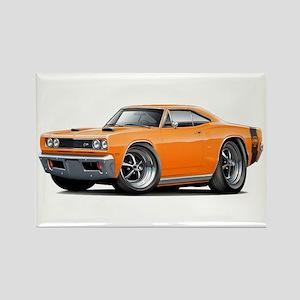 1969 Super Bee Orange Car Rectangle Magnet