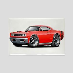 1969 Super Bee Red-Black Car Rectangle Magnet
