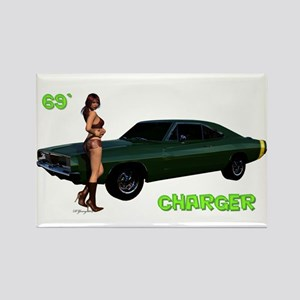 69 Charger Pinup Magnets