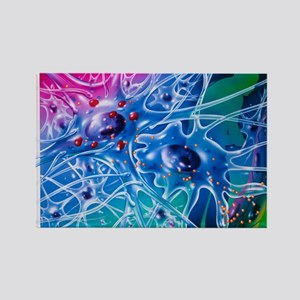 Artwork of Parkinson's disease dr Rectangle Magnet