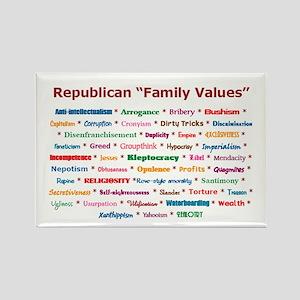 Republican Values Rectangle Magnet