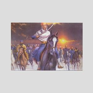 Brave Sikh Woman - Rectangle Magnet