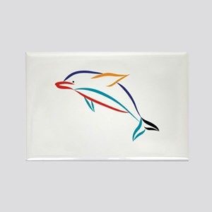 Multicolor Dolphin Magnets
