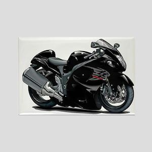 Hayabusa Black Bike Rectangle Magnet