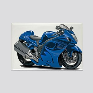 Hayabusa Blue Bike Rectangle Magnet